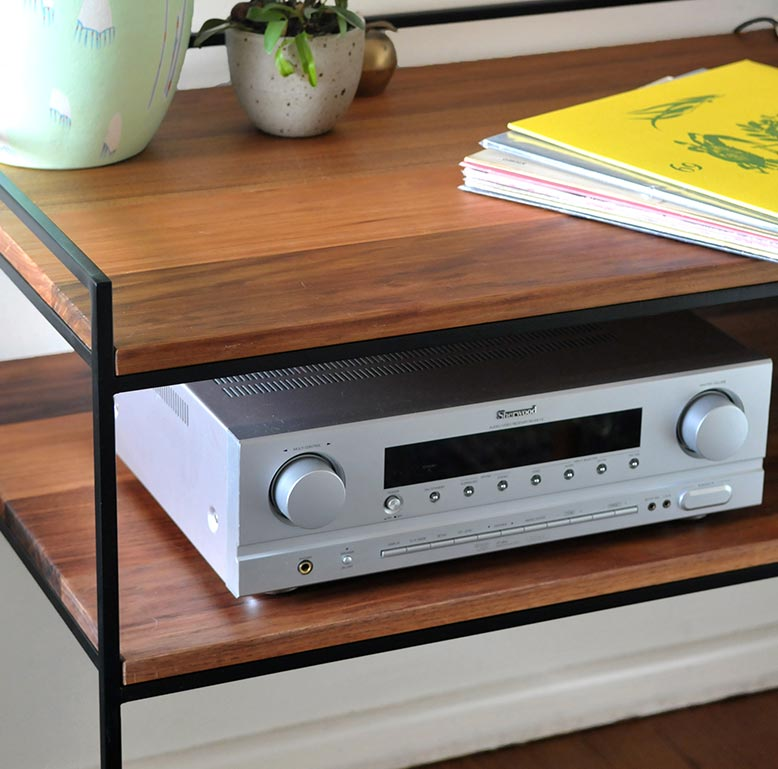 custom hifi shelf by idle hands design. Black Bedroom Furniture Sets. Home Design Ideas